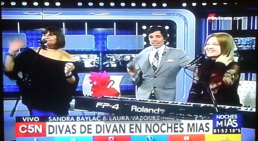 DIVAS DE DIVÁN en Noches Mías C5N con Robertito Funes